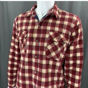 Wharton Vintage Plaid Flannel Quilted Lined Shirt